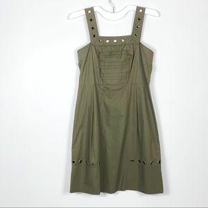 Vera Wang Lavender Label Khaki Green Dress 4